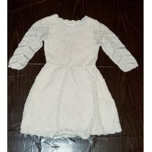 Cream and gold sparkle lace overlay dress 5T